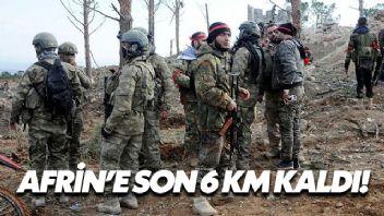 Afrin'e Son 6 Km Kaldı!