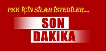 PKK İÇİN SİLAH İSTEDİLER