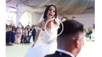 Gelin Düğününde Şov Yaptı...