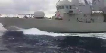 Ege'de Yunan hücumbotu Türk gemisine çarptı