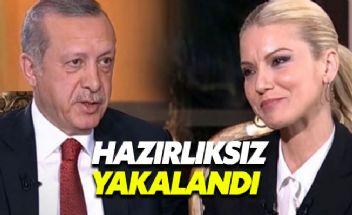 Pelin Çift, Erdoğan karşısında fena çuvalladı