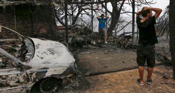 Atina yangınlarında kundaklama şüphesi