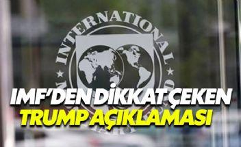 Trump'ın gümrük vergisi kararına IMF'den tepki geldi