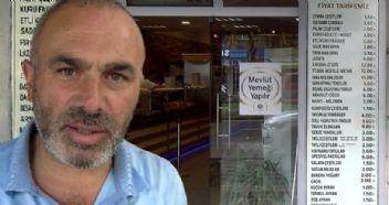 Fiyat listesiyle krize meydan okuyan lokanta sahibi konuştu