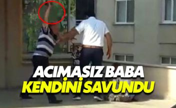 Engelli oğlunu sokak ortasında döven babadan pişkin savunma