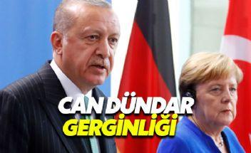 Erdoğan-Merkel toplantısında Can Dündar gerilimi