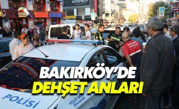 Bakırköy'de bir sürücü aracını kalabalığın arasına sürdü
