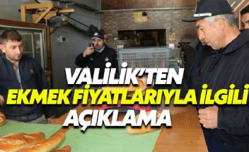 İstanbul Valiliği'nden ekmek fiyatlarıyla ilgili açıklama