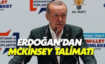 Erdoğan'dan McKinsey talimatı: Danışmanlık hizmeti almayacaksınız