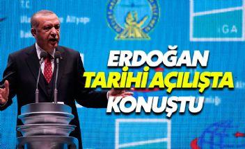 Cumhurbaşkanı Erdoğan yeni havalimanı açılışında konuştu