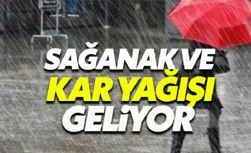 Türkiye kar ve sağanak yağışın etkisi altına giriyor