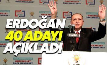 Cumhurbaşkanı Erdoğan partisinin belediye başkan adaylarını açıkladı
