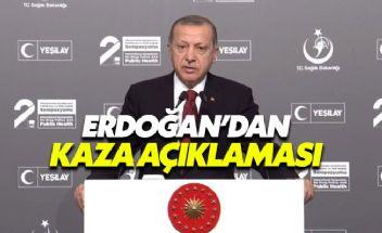 Cumhurbaşkanı Erdoğan'dan helikopter kazası açıklaması