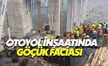 Kuzey Marmara Otoyolu inşaatında göçük meydana geldi