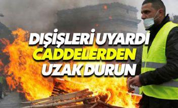 Türkiye'den Sarı Yelekliler eylemi uyarısı