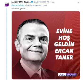 Ercan Taner'den geri dönüş mesajı