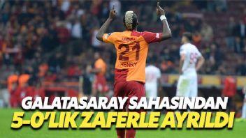 Galatasaray sahasında 5-0 Antalyaspor'u mağlup ederek yenilmezlik serisini sürdürdü