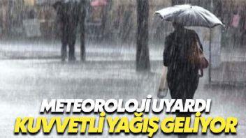 'Kuvvetli Yağış' Uyarısı