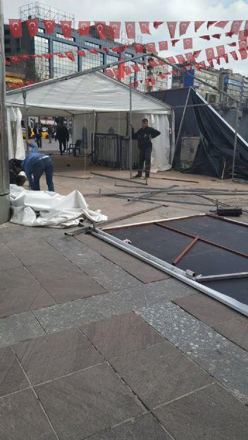 Büyükşehirlerde kaybeden AKP, tanzim çadırları toplamaya başladı