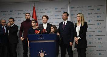 Anıtkabir'e giden İmamoğlu, Ankara'da Akşener' i ziyaret etti