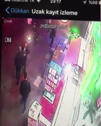 Çarşı grubu liderine silahlı saldırı anı kamerada