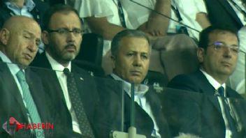 Ekrem İmamoğlu Süper Kupa maçında tribünde