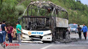 Metro Turizm otobüsü alevlere teslim