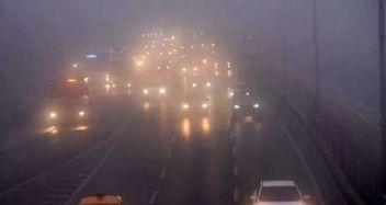 Yoğun sis uyarısı